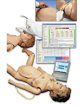 Interaktiver Geburtssimulator mit Laptop-Computer, 3B Scientific, medishop.de