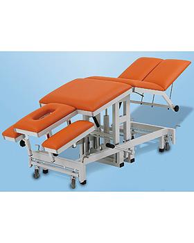 AGA-THERA, Therapieliege, hydraulisch, 7-teilig, Gestellfarbe reinweiß, Bezug schwarz, AGA Sanitätsartikel, medishop.de