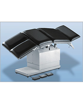 AGA-MULTI-MAT Multifunktionstisch mit 3 Motoren, Gestellfarbe reinweiß, Bezug schwarz leitfähig, AGA Sanitätsartikel, medishop.de
