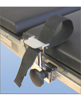 Handfessel mit schwarzem Gurtband, 50 mm breit, 500mm lang, ohne Befestigungskloben, AGA Sanitätsartikel, medishop.de