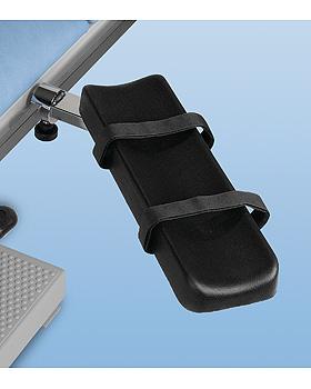 Armauflage, verchromt, Polsterauflage schwarz Abmessungen 400 x 115 mm, AGA Sanitätsartikel, medishop.de