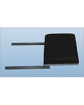Beinplatte, Polster 8cm, Gestellfarbe reinweiß, Bezug schwarz, AGA Sanitätsartikel, medishop.de
