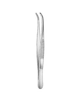 Anatomische Pinzette, 10,5cm, gebogen, Allgaier Instrumente, medishop.de