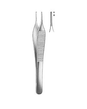 ADSON, chirurgische Pinzette, 12cm, 1x2 Zähne, kreuzger., Allgaier Instrumente, medishop.de