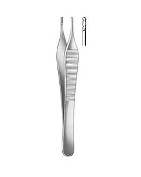 ADSON-BROWN, chirurgische Pinzette, 12cm, 9x9 Zähne, Allgaier Instrumente, medishop.de