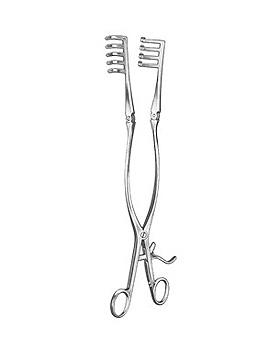 ADSON, Wundspreizer, 32cm, 4 x 5 Zähne stumpf, bewegliche Arme, Allgaier Instrumente, medishop.de