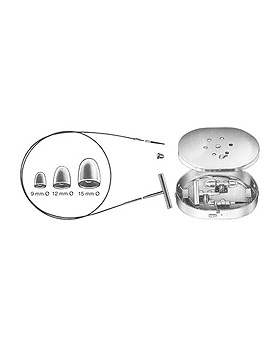 NABATOFF, Krampfaderbesteck, komplett in Metalletui, Allgaier Instrumente, medishop.de
