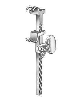 BAILEY-BABY, Rippenkontraktor, 14cm, mit Zahnstange, Allgaier Instrumente, medishop.de