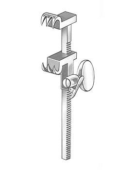 BAILEY-GIBBON, Rippenkontraktor, 16cm, mit Zahnst., lange, Allgaier Instrumente, medishop.de