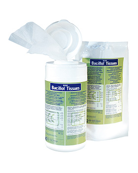 Bacillol Tissues, 100 Tücher im Nachfüllbeutel, Bode Chemie, medishop.de