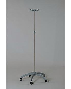 5-Fuß-Infusionsständer verchromt, 50 mm Rollen, Rollen, Kunststoff-Fuß, doppelt verpackt, Dr. Paul Koch, medishop.de