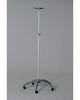 5-Fuß-Infusionsständer Edelstahl, 50 mm Rollen, Rollen, Kunststoff-Fuß, doppelt verpackt, Dr. Paul Koch, medishop.de