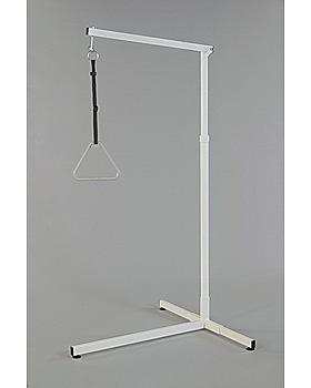 Bettgalgen 3-Fuß, Profilrohr, mit Puffer und Griff 21455 00, Ausladung 120 cm, Dr. Paul Koch, medishop.de