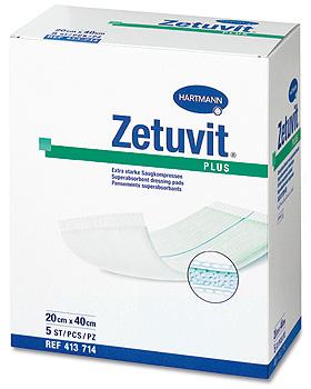 Zetuvit Plus steril 20 x 25 cm, einzeln eingesiegelt, 10 Stück, Hartmann, medishop.de