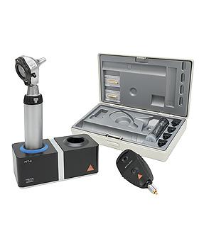 Diagnostik Set HEINE BETA 200 F.O. 3,5V, mit Ladegriff, Ladegerät, Tips, Lasergravur, Heine Optotechnik, medishop.de