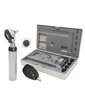 Diagnostik Set HEINE BETA 200 F.O. 3,5V, mit USB Ladegriff, Tips, Lasergravur, Heine Optotechnik, medishop.de