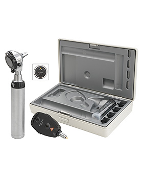 Diagnostik Set HEINE BETA 400 F.O. LED, mit USB Ladegriff, Lasergravur, Heine Optotechnik, medishop.de