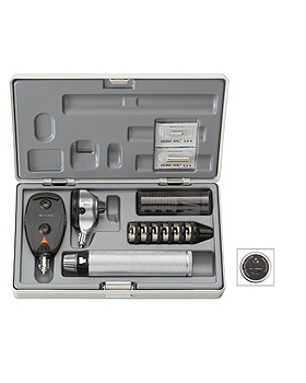 Diagnostik Set HEINE BETA 100 3,5V, mit USB-Ladegriff, Trichter, Etui, Heine Optotechnik, medishop.de