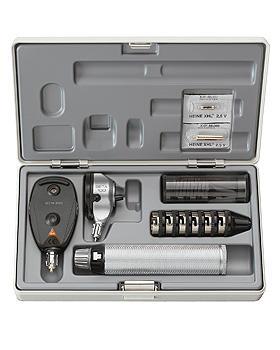 Diagnostik Set HEINE BETA 100 2,5V, mit Batteriegriff, Trichter, Etui, Lasergravur, Heine Optotechnik, medishop.de