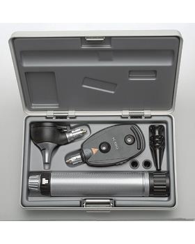 Diagnostik Set HEINE K 180 F.O. 3,5V, mit USB Ladegriff, Tips, Etui, Heine Optotechnik, medishop.de