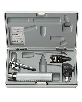 Diagnostik Set HEINE K 100, mit Mundspatelhalter, Batteriegriff 2,5V, mit Etui und Lasergravur, Heine Optotechnik, medishop.de