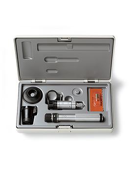 Handspaltlampen HEINE HSL 150 Set, 2,5V, 10x, BETA SLIM Batteriegriff, Lupenaufsatz, Heine Optotechnik, medishop.de