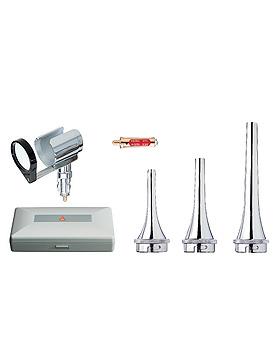 Veterinär Otoskop HEINE G100 3,5V, mit USB-Ladegriff, Kabel, Netzteil, Spekulas, Etui, Heine Optotechnik, medishop.de