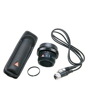 Fotozubehör Set für Nikon, SLR Fotoadapter, Verbindungskabel , BETA Gürtel Clip, Abstandsring, Heine Optotechnik, medishop.de