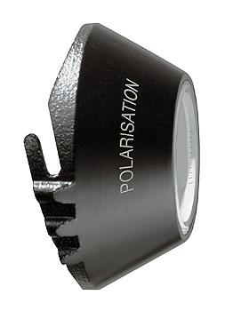 Kontaktscheibe für DELTA 20 Plus Dermatoskop, für Polarisation (P), 23mm Durchmesser, mit Skala, Heine Optotechnik, medishop.de