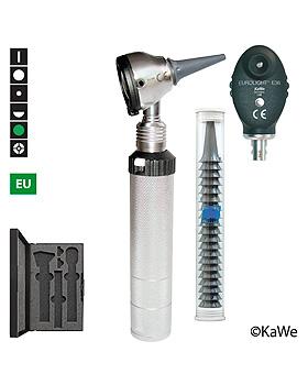 Diagnostik-Set, Otoskop EUROLIGHT F.O.30 und Ophthalmoskop E36 (EU) mit Ohrtrichern, KaWe Germany, medishop.de