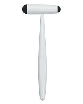 Reflexhammer nach Buck klein, weiß, EASY-TO-CLEAN, Luxamed, mit Lasergravur, Luxamed, medishop.de