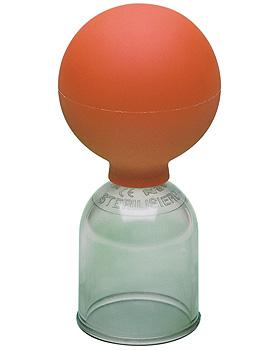 Acryl Schröpfglas mit Ball, Größe 2, Durchmesser 3,5cm, Noz GmbH, medishop.de