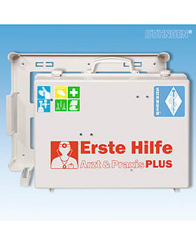 Erste-Hilfe-Koffer Arzt & Praxis PLUS, gefüllt, Söhngen, medishop.de
