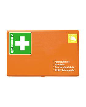 GGVSEB-Schutzausrüstung in Behälter KU-Kunststoff orange, Söhngen, medishop.de