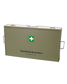 Feuerwehr-Sanitätskasten groß - Holz DIN14880:1977, Söhngen, medishop.de