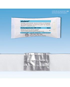 aluderm Verbandpäckchen DIN klein 3 m x 6 cm Kompresse 6 x 8 cm, einzeln steril verpackt, Söhngen, medishop.de