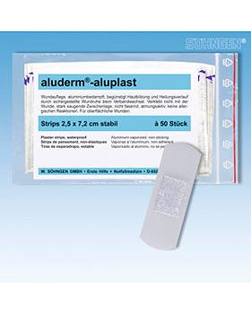 aluderm-aluplast stabil Strips 2,5 x 7,2 cm, 50 Stück, Söhngen, medishop.de