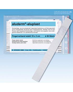 aluderm-aluplast stabil Fingerverband 18 x 2 cm, 50 Stück, Söhngen, medishop.de