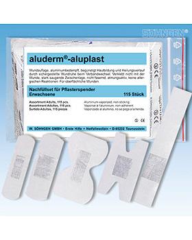 aluderm-aluplast Nachfüllset für Spender, verscheidene Größen, 115 Stück, Söhngen, medishop.de