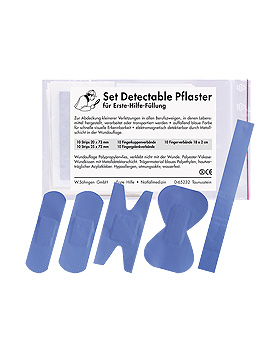 Detectables Pflasterset für Erste-Hilfe-Füllung, 50 Stück, Söhngen, medishop.de