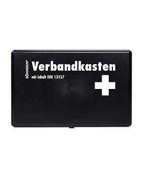 Verbandkasten KIEL Kunststoff Standard schwarz mit Füllung nach DIN 13157, Söhngen, medishop.de