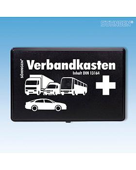 KFZ-Verbandkasten DIN 13164 SO Kunststoff schwarz  mit Füllung DIN 13164, Söhngen, medishop.de