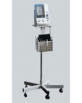 mobiler Ständer für OMRON HEM-907 Blutdruckmessgerät m. Aufbewahrungskorb, Omron, medishop.de