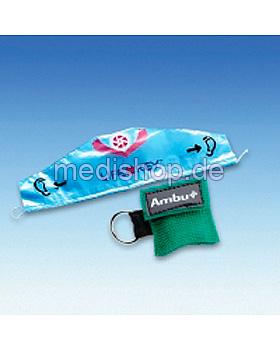AMBU LifeKey im grünen Softcase- Schlüsselanhänger mit Ambu-Logo, Ambu, medishop.de