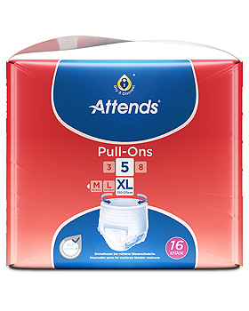 Attends Pull-Ons 5 Einweghosen Extra Large (4 x 16 Stck.), Attends/PaperPak, medishop.de