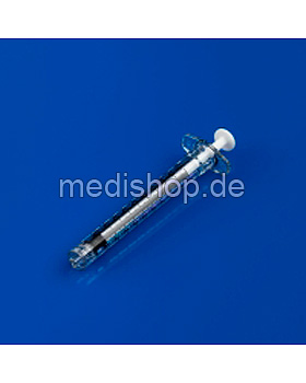 BD Plastipak Einmal-Spritze 1 ml, Luer-Lock, zentrisch, 100 Stück, Becton Dickinson, medishop.de