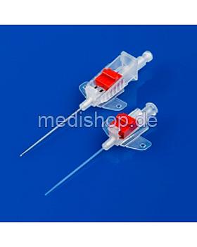 BD Arterienkanüle mit BD FloSwitch 1-Wege-Hahn, 20 G, 1,1 x 45 mm, rot, 25 Stück, Becton Dickinson, medishop.de