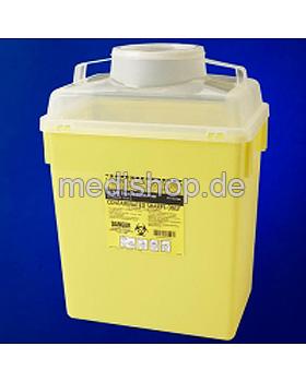 BD Sharps Container 2tlg., 22,7 Ltr. Kanülenabwurfbehälter mit Deckel, Becton Dickinson, medishop.de