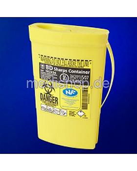 BD Sharps Container 0,45 Ltr. Kanülenabwurfbehälter, 100 Stück, Becton Dickinson, medishop.de