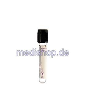 BD Vacutainer BSG-Röhrchen aus Glas, 1,6 ml, Natrium-Citrat,, 100 Stück, Becton Dickinson, medishop.de